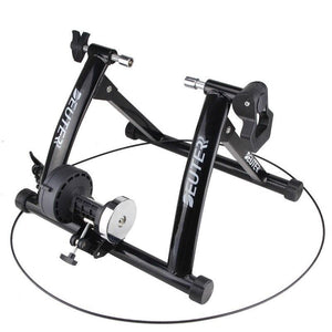 Deluxe Indoor Stationary Bike Trainer Exercise Stand Black - Shopptique