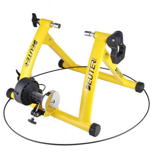 Deluxe Indoor Stationary Bike Trainer Exercise Stand Yellow - Shopptique
