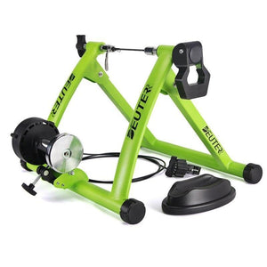 Deluxe Indoor Stationary Bike Trainer Exercise Stand Green - Shopptique