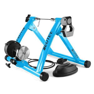 Deluxe Indoor Stationary Bike Trainer Exercise Stand Blue - Shopptique