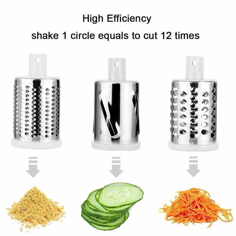 Multi-Functional Vegetable Cutter & Slicer Multifunctional Rotary Mandoline Slicer Grinder,Vegetable Chopper,Nut Cheese Shredder,Cabbage Veggie Cutter with Round Graters Kitchen Chopping Tool - Shopptique