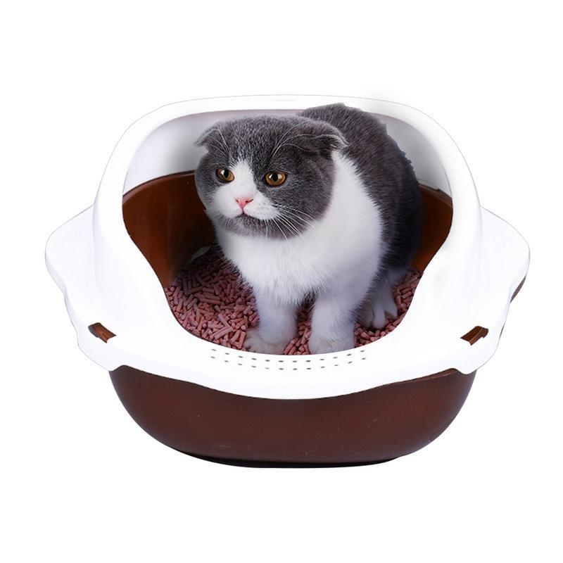 Kitty Cat Litter Box Small Corner Furniture Brown / M - Shopptique