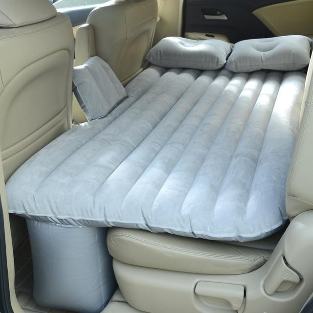 Inflatable Car Air Mattress Bed For Back Seat Grey - Shopptique
