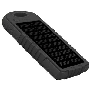 Portable Solar Powered Cell Phone Battery Charger Black - Shopptique