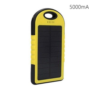 Portable Solar Powered Cell Phone Battery Charger Yellow and Black - Shopptique