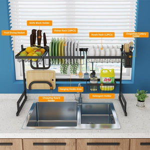 Over Kitchen Sink Dish Drying Rack - Shopptique