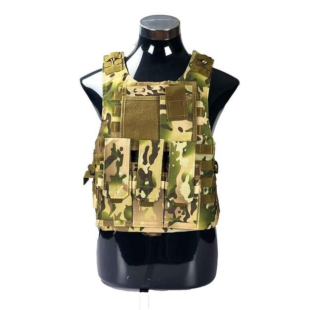 Military Tactical Plate Carrier Vest CP Camo / One Size - Shopptique