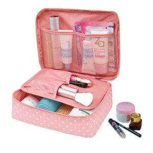 Travel Cosmetic Makeup Organizer Bag Pink - Shopptique