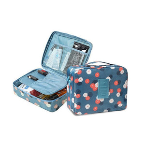Travel Cosmetic Makeup Organizer Bag Polki Dot - Shopptique
