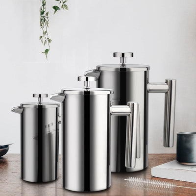 French Press Coffee Maker Stainless Steel 350ml - Shopptique