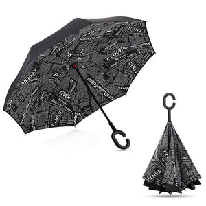 Upside Down Inverted Rain Umbrella Dark - Shopptique