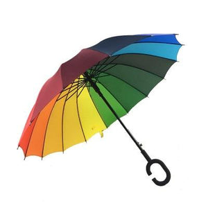 Upside Down Inverted Rain Umbrella Rainbow - Shopptique