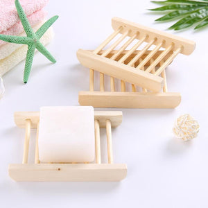 Wooden Shower Bar Soap Holder Dish - Shopptique