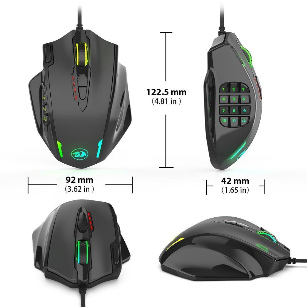 Wired Light RGB PC Gaming Mouse With Side Buttons - Shopptique