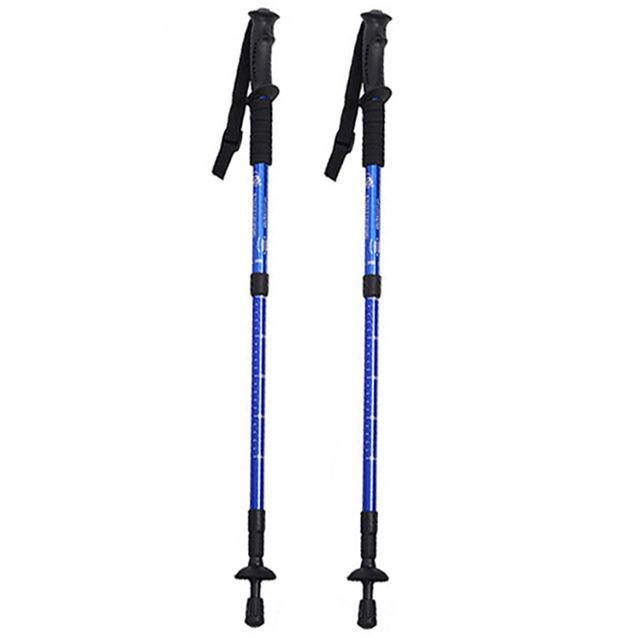 Collapsible Trekking Pole For Hiking Blue - Shopptique