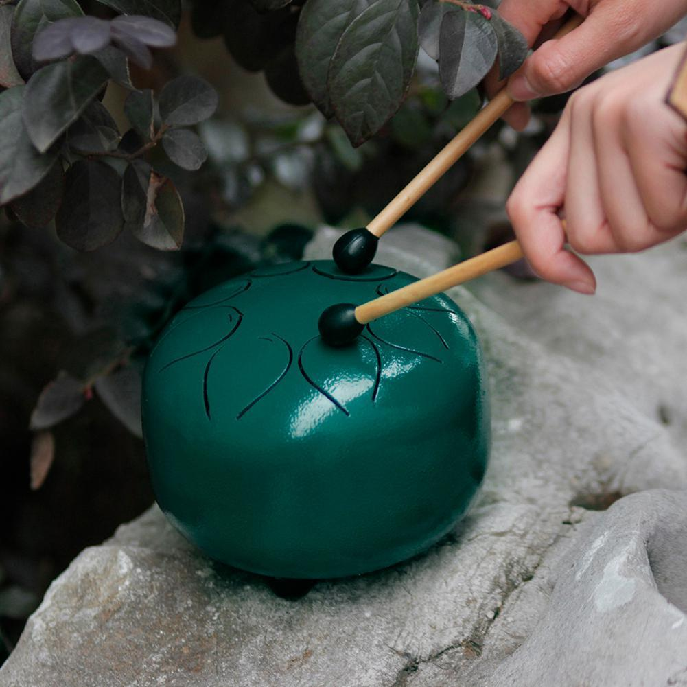 Steel Tongue Hang Drum Pan Hand Drum Green - Shopptique