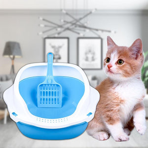 Kitty Cat Litter Box Small Corner Furniture Blue / M - Shopptique