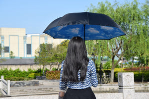 Upside Down Inverted Rain Umbrella Sky Blue - Shopptique