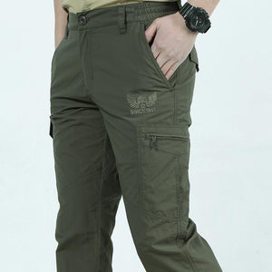 Tactical Waterproof Cargo Pants For Men M / Army Green - Shopptique