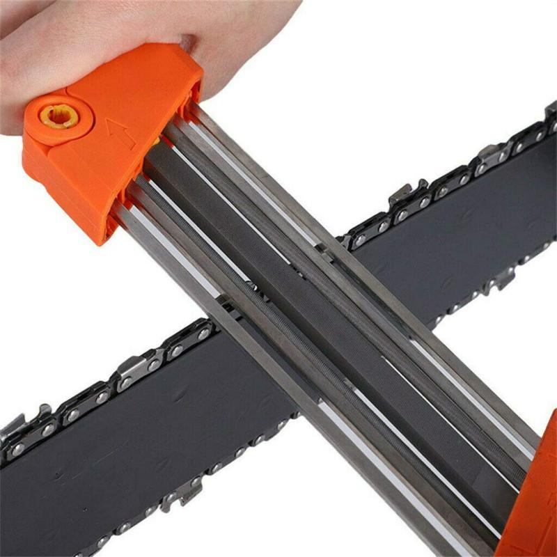 Chainsaw Teeth Blade Sharpener Tool Orange - Shopptique
