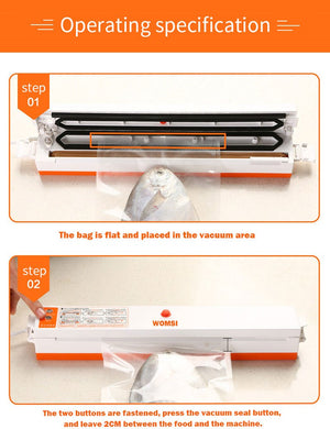 Food Vacuum Packaging Sealer Machine - Shopptique