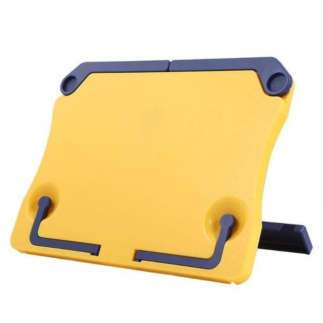 Portable Book Holder Desk Stand Yellow Book Holder - Shopptique