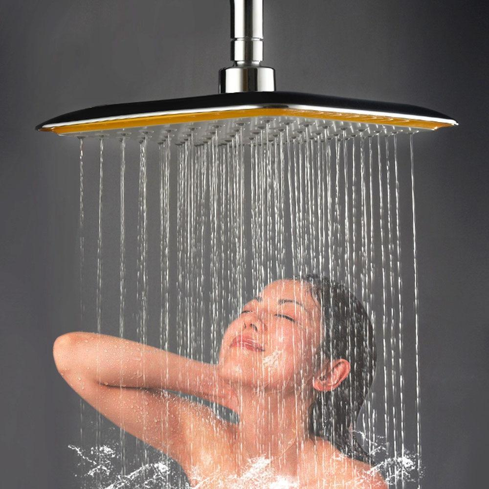 Rainfall Shower Head Square Stainless Steel Yellow - Shopptique