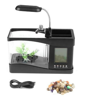 Small LED Fish Aquarium Water Tank - Shopptique