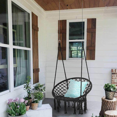 Hanging Hammock Swing Chair Indoor Outdoor - Shopptique