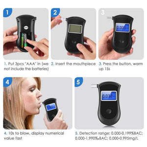 Personal Home Portable Alcohol Breathalyzer - Shopptique