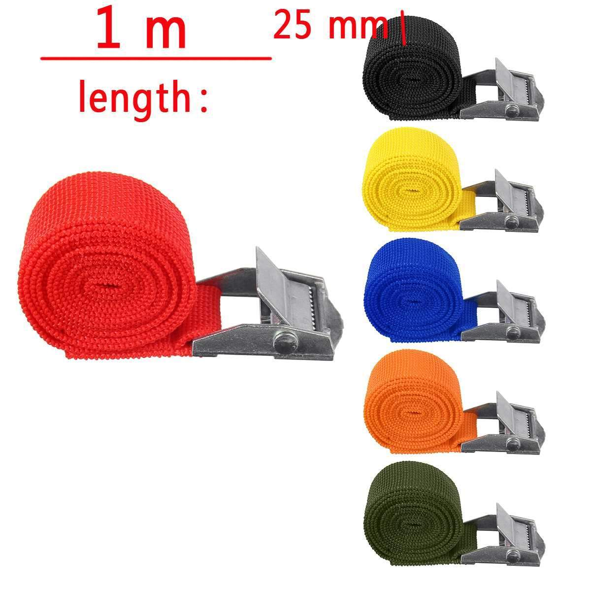 "1"" x 39"" Heavy Duty Ratchet Tie Down Cargo Straps Retractable - Shopptique"
