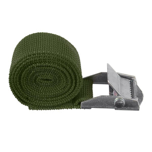 "1"" x 39"" Heavy Duty Ratchet Tie Down Cargo Straps Retractable Army Green - Shopptique"