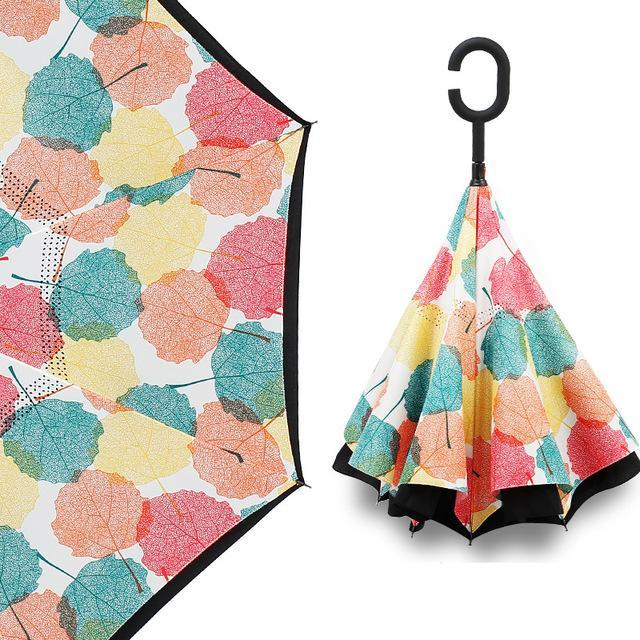 Upside Down Inverted Rain Umbrella Polki Dot - Shopptique