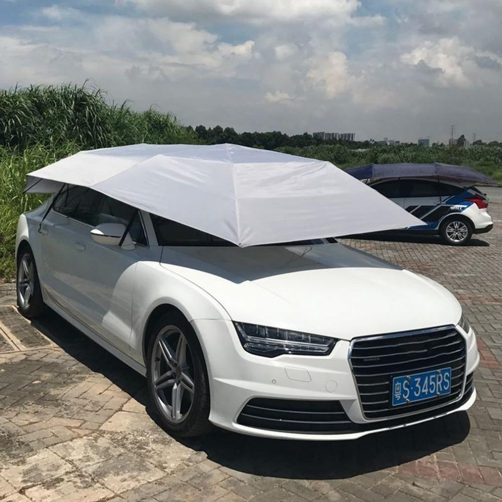Heavy Duty Automatic Car Covering Canopy Tent Shelter White - Shopptique