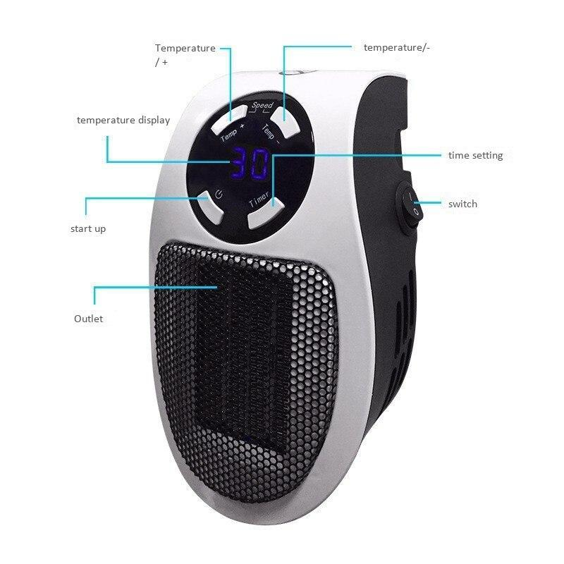Small Portable Quiet Space Heater Energy Efficient - Shopptique