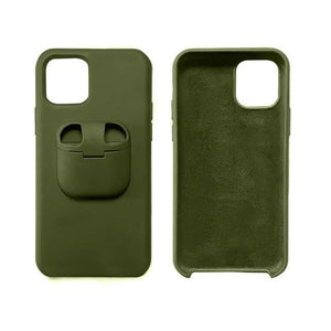 Premium iPhone Airpod Holder Case iPhone 11 / Army Green - Shopptique
