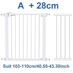 Wide Baby Walk Through Fence Gate With Door Pressure Mounted - Shopptique