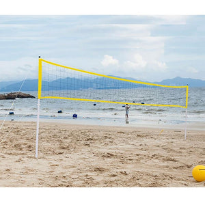 Heavy Duty Portable Outdoor Pool Volleyball Net Yellow - Shopptique