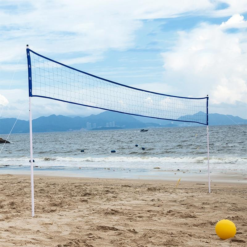 Heavy Duty Portable Outdoor Pool Volleyball Net Blue - Shopptique