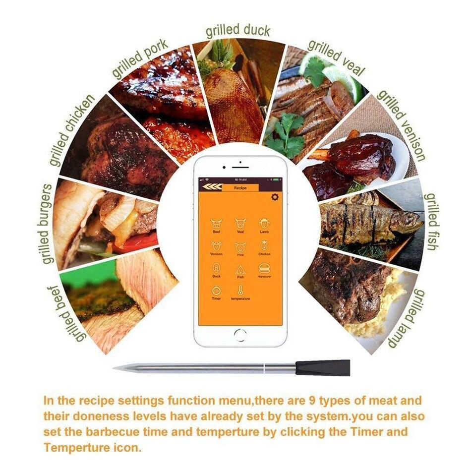 Wireless Digital Bluetooth Meat BBQ Thermometer - Shopptique