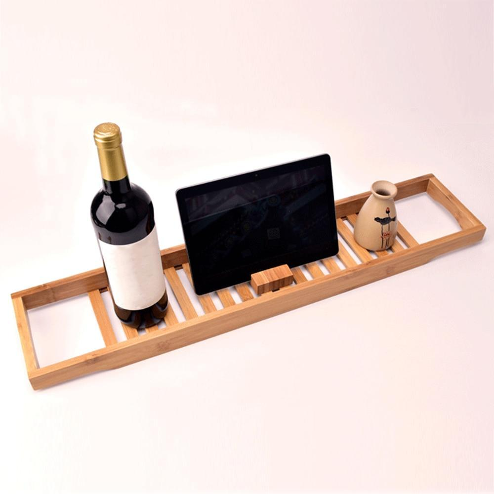 Wooden Bathtub Caddy Bamboo Tray - Shopptique