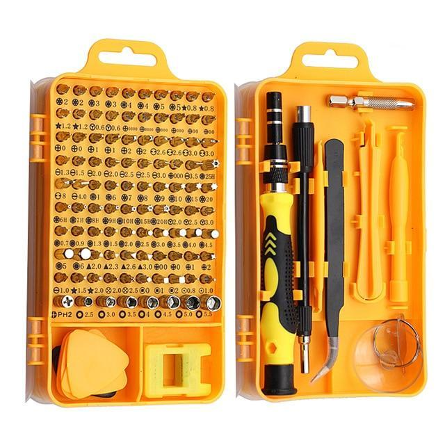 115 in 1 Electronics Precision Screwdriver Set Yellow - Shopptique
