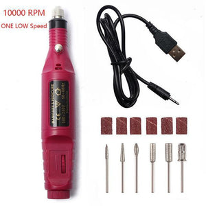Portable Electric Nail File Drill Machine Kit - Shopptique