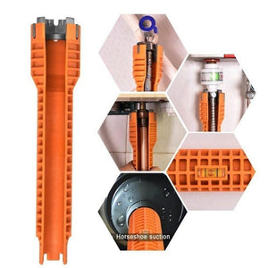 Multifunctional Basin Sink Faucet Wrench Orange - Shopptique