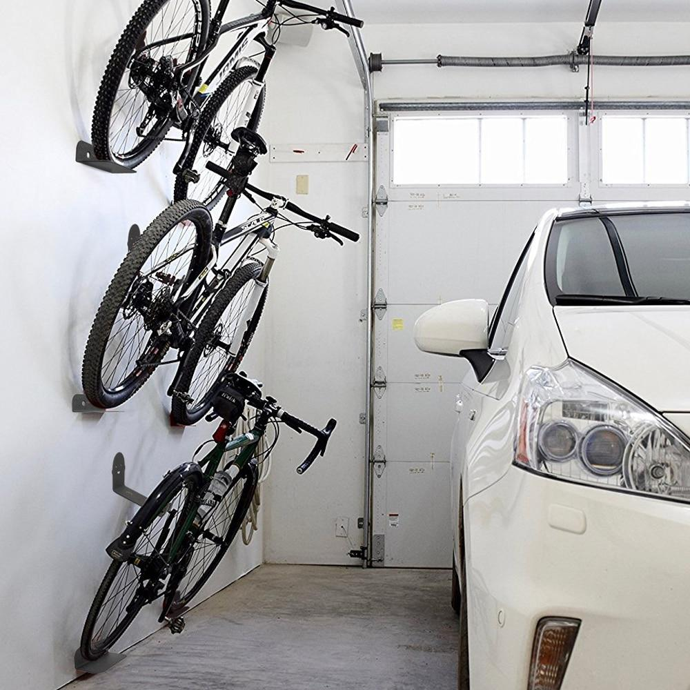 Premium Garage Bike Wall Mount Hook Hanger Rack Bicycle Stand & Storage - Shopptique