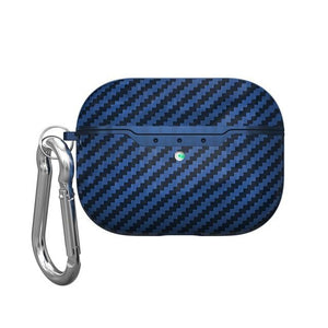Carbon Fiber Airpods Pro Case Protective Cover Blue - Shopptique
