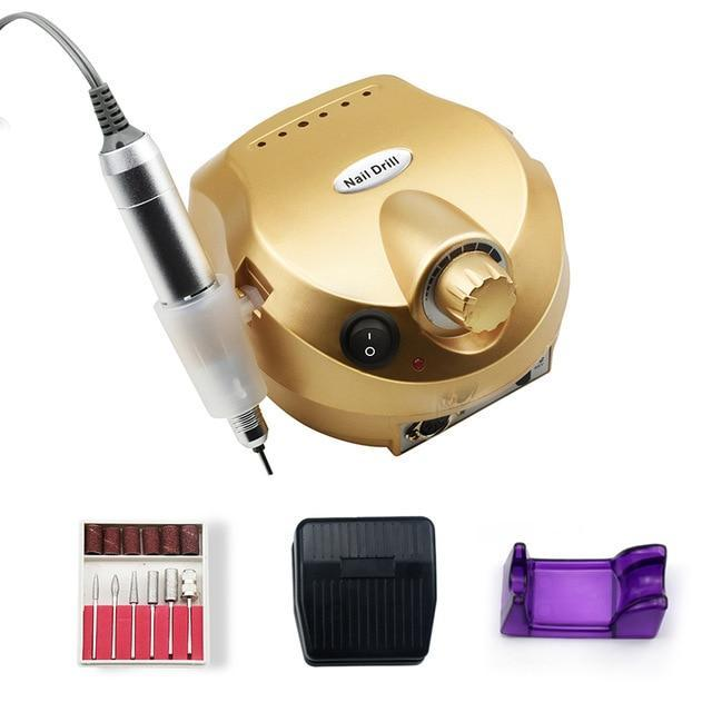 Professional Electric Nail File Drill Machine Kit Gold - Shopptique