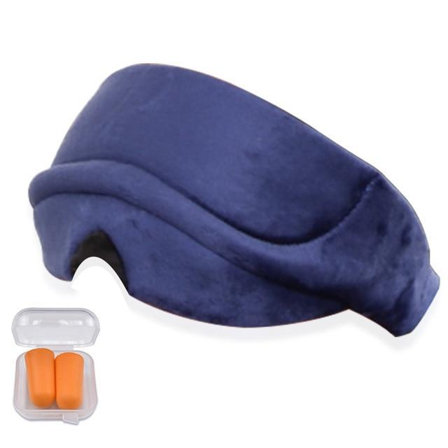 Premium Eye Cover Sleep Mask Navy Blue - Shopptique