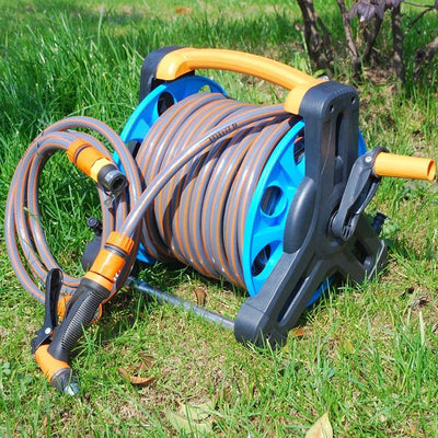 Premium Retractable Garden Water Hose Holder Reel - Shopptique