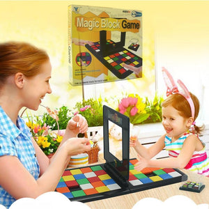 Magic Block Game 3D Puzzle Race Cube Board Game Kids Adults Education Toy Parent-Child Double Speed Game Magic Cubes - Shopptique